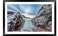 Man O War Bay Sky Valley, Framed Mounted Print