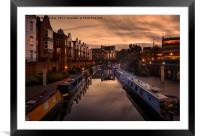 The Canals of Birmingham, Framed Mounted Print