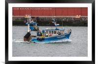 Le Charognard Fishing Boat In Le Havre, France, Framed Mounted Print