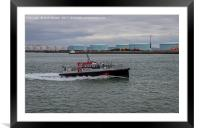 Pilote Boat In The Harbour In Le Havre, France., Framed Mounted Print