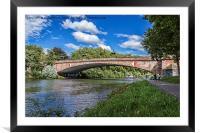 Bridge Over The River Saar, in Saarbrucken, German, Framed Mounted Print