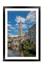 The Church In The Old Town Of Harfleur, France, Framed Mounted Print
