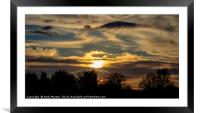 The Sun Setting, Framed Mounted Print