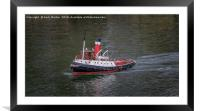 RC Ship On Water, Framed Mounted Print