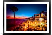 Sunset twilight Laguna Riviera Beach Resort, Framed Mounted Print