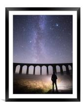 Ribblehead Viaduct and the Milky Way, Framed Mounted Print