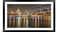 Millennium Bridge / St Paul's Cathedral, Framed Mounted Print