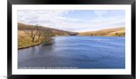 Grwyne Fawr Reservoir, Framed Mounted Print