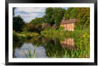 Winchester Itchen River, Hampshire, England, Framed Mounted Print