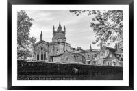 Monochrome of Winchester College, Framed Mounted Print