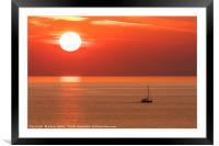 Sun setting, Framed Mounted Print