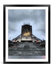 Liverpool Metropolitan Cathedral, Framed Mounted Print