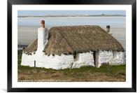 Building, Cottage, Thatched, White walls, Framed Mounted Print