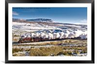 Steam and Snow, Framed Mounted Print