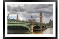 Westminster bridge, Framed Mounted Print