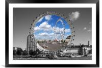 The London Eye, Framed Mounted Print