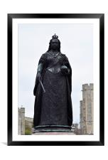 Statue of Queen Victoria, Framed Mounted Print