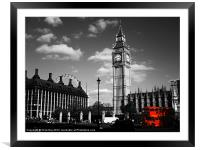Routemaster Bus and Big Ben, Framed Mounted Print