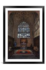 Winchester Cathedral Lady Chapel, Framed Mounted Print
