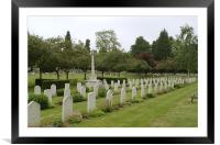 War Graves in Northwood Cemetery, Framed Mounted Print