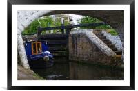 Stockers Lock the Grand Union Canal Rickmansworth, Framed Mounted Print