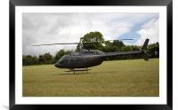 Helicopter - Bell Jet Ranger 206, Framed Mounted Print