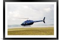 1980 Bell Helicopter Textron BELL 206B, Framed Mounted Print