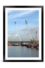 Poole Docks, Framed Mounted Print