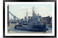 HMS Belfast 7, Framed Mounted Print