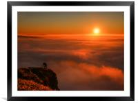 Inversion over Hope Valley from Mam Tor at sunrise, Framed Mounted Print