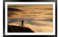 Above the Mist at Mam Tor, Framed Mounted Print