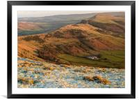 Peak District from Mam Tor overlooking Hope Valley, Framed Mounted Print