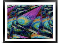 Abstract tie dye, Framed Mounted Print