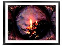 How Bright The Glow, Framed Mounted Print
