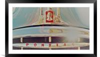 Stunning Pontiac in the sun, Framed Mounted Print