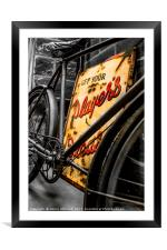 1936 WWII Bicycle, Framed Mounted Print