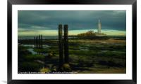 Tynemouth St Mary's Lighthouse , Framed Mounted Print