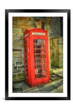 A Red Telephone Box, Framed Mounted Print