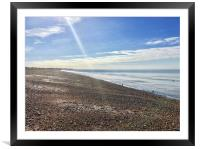 Hayling Island Sunbeam Shingle, Framed Mounted Print