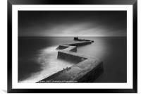 St Monans Pier, St Monans, Fife, Scotland., Framed Mounted Print