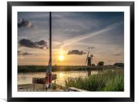 Sailing the Norfolk Broads, Framed Mounted Print