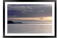 Lyme Bay Dorset early February , Framed Mounted Print