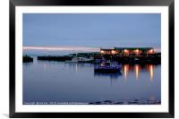 Lyme Regis Cobb Harbour - Dawn, Framed Mounted Print