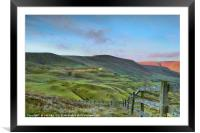 The Great Ridge from Mam Tor, Framed Mounted Print