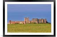 Bamburgh Castle  Northumberland, Framed Mounted Print