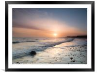 Sunrise at Happisburgh, Framed Mounted Print