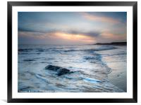 Dawn on Happisburgh Beach, Framed Mounted Print