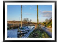 Sail Boat at Hill Common, Framed Mounted Print