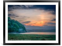 The Taf Estuary of Laugharne Wales, Framed Mounted Print