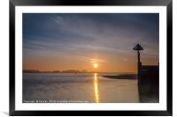Sunrise over East Fleet Norfolk, Framed Mounted Print